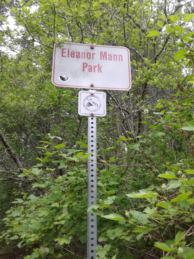 Eleanor Mann Park sign